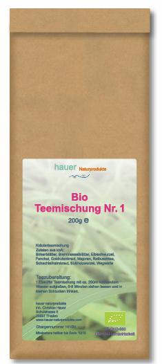 Bio Teemischung Nr.1, aus kontrolliert biologischem Anbau, 200g