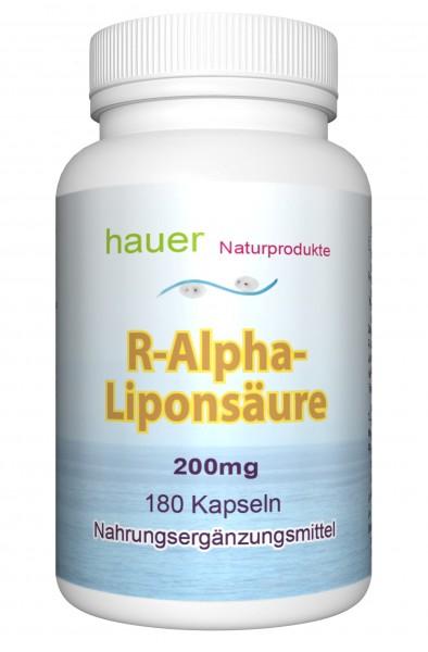 R-Alpha-Liponsäure 200mg ~ Familienpackung ~ 180 vegane Kapseln