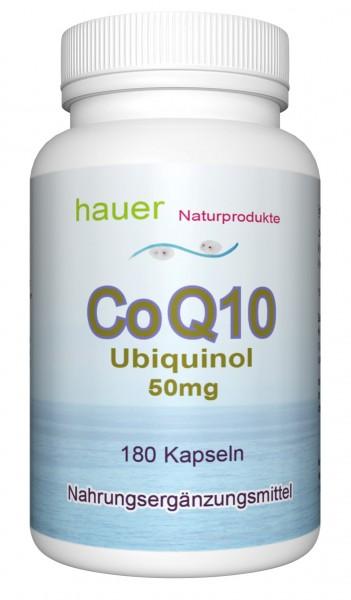 CoQ10 Ubiquinol 50mg ~ Familienpackung ~ 180 vegane Kapseln
