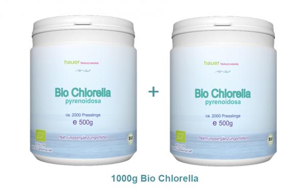 1kg (2x500g) Bio Chlorella pyrenoidosa, 4000 St., aus kontrolliert biologischem Anbau